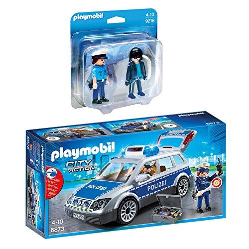 Playmobil City Action 2-tlg. Set 6873 9218 Polizei-Einsatzwagen + Duo Pack Polizist und Langfinger
