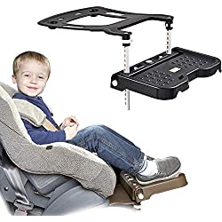CX TECH Baby Car Safety Seat Pedal Kids Car Seat Footrest Knee Guard Booster Seat Footrest Protective Cushion Holder 0-11 Year Child Be Applicable,Black