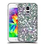 Head Case Designs Jade Adern Schimmerndes Marmor Soft Gel Hülle für Samsung Galaxy S5 Mini