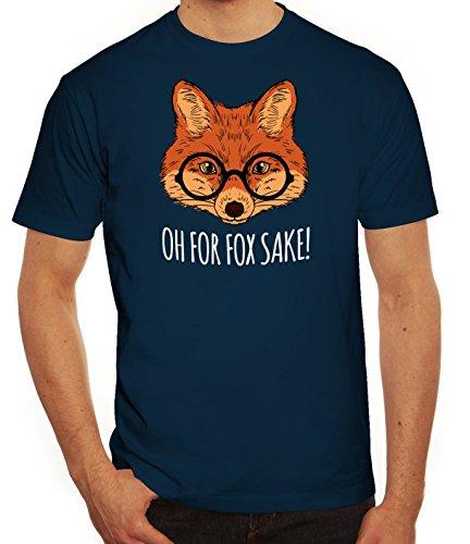 Lustiges Herren T-Shirt mit Oh For Fox Sake! Motiv von ShirtStreet Dunkelblau