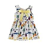 Robe de Filles,Yesmile Fille Robe Princesse Robe Enfant Fille Robe Mignonne Robe Floral Robe Tutu Robe Bowknot (2-3T, Blanc)