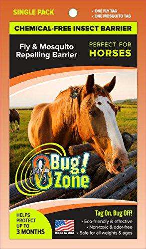 Shoo. Tag Pferd fliegen und Mücken Barriere Tag, Single -