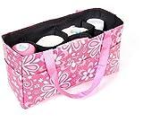 Ecokaki(TM) Portable Baby Diaper Nappy Insert Organizer Storage Bag Mummy Bag Multifunctional Maternity Baby Storage Bag, Pink by Ecokaki