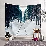 Baisheng Herbst und Winter schöne Wald Wandteppich