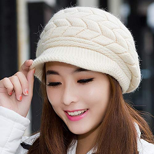 SED Sombrero De Señoras Otoño Invierno 璀璨 Línea Gorra Damas Cálida Orejeras  Sombrero De Punto para Mantenerse Caliente a168e0f0f06