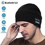 MEckily Bonnet Bluetooth sans Fil Lavable Loisirs Casquettes Bluetooth Baggy Casque avec Haut-Parleur de Musique Acoustique et Homme Femme,Cadeaux de Noël Anniversaire Sports de Plein air