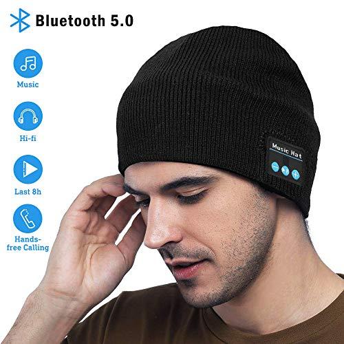 MEckily Bonnet Bluetooth sans fil lavable Loisirs Casquettes...