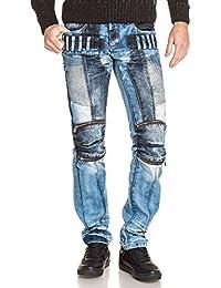 BLZ jeans - Jean homme bleu délavé destructuré fantaisie