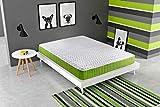 KAMA HAUS | Colchón Visco Green | 140x190cm | con Visco-Grafeno | Tejido Air Soft | Altura ±20cm