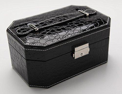 HWF étui cosmétique Ensemble de bijoux Boîte de rangement Boîte de finition Double couche Portable Organisateur ( Couleur : G )
