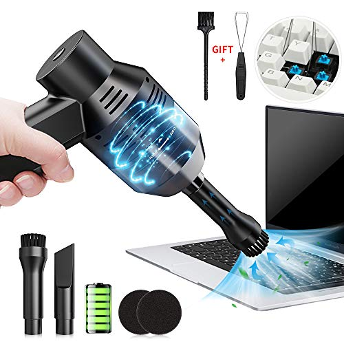 Kabellos Tastatursauger, USB Tastatur Reiniger mit Keycap Remover und Bürste, Mini Staub Reinigungs Set Reinigen die Lücke für Tastatur, Auto, Sitze, Tierhaare, Laptop, Sofa, Flüssigkeit von Yuede