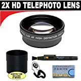 2x Digital Telephoto Professional Series Lens + Lens Adapter Tube (If Needed) + Lenspen + Lens Cap Keeper + DB ROTH Micro Fiber Cloth For The Canon VIXIA HF G20