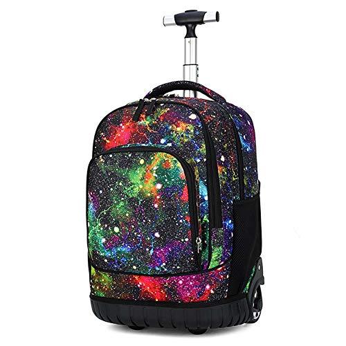 LUCKGXY Schüler Trolley Tasche, Kinder Reise Rucksack High Capacity Schultasche für Jungen und Mädchen 12.2x8.2x18.8 Zoll (31x21x48 cm),M