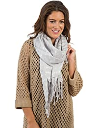 Womens/Ladies Striped Scarf With Lurex, Size 203 x 70cms, Various Colours