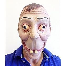 Divertido Cara De Friki Divertido Máscara De Látex Dientes Grandes De Norman Nerd Disfraces Despedidas Fiesta Broma