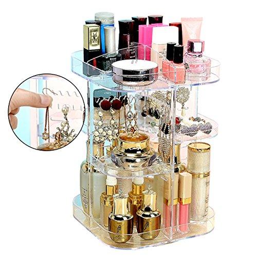 Ferry Pier - Organizador de maquillaje giratorio para cosméticos