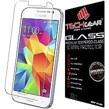TECHGEAR Samsung Galaxy Core Prime (SM-G360/G361f Series) GLASS Edition Genuine Tempered Glass Screen Protector Guard Cover [G3606, G3608, G3609]
