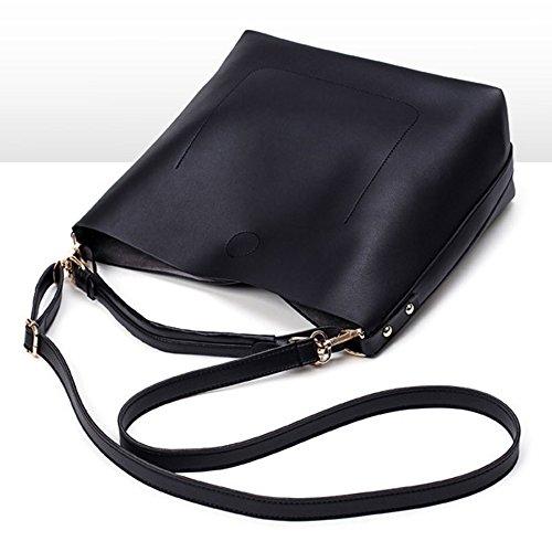 Young & Ming - 2 in 1 Set Borse a tracolla Donna Borse Totes Baguette Borse a mano Handbag Borse a spalla Rosa