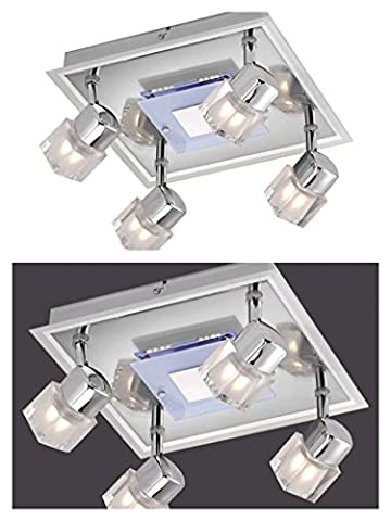 Deckenstrahler 4 flammig mit LED Board Decken Spot Deckenlampe bewegliche