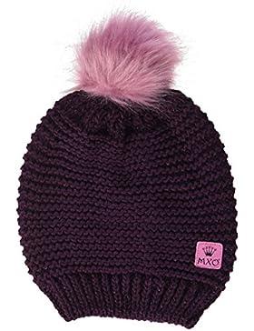 maximo Mädchen Mütze mit Pompon, Lurex