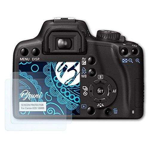Bruni Schutzfolie kompatibel mit Canon EOS 1000D / Rebel XS Folie, glasklare Displayschutzfolie (2X) (Canon Kamera Eos Rebel Xs)