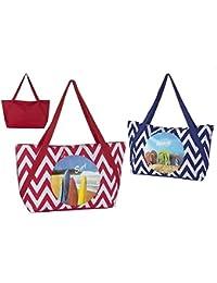Color Baby Bolsa de Playa, Diseño Zig-Zag, Multicolor