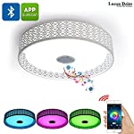 Enlighten your life and spice up your furniture with this fashionable Bluetooth LED Color Light that plays music. With its modern design this unique LED ceiling light forms the perfect decoration for any living room and bedroom alike. The possibility...