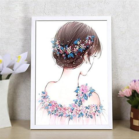 Lanlan Einfache und Moderne Stil DIY Diamant Stickerei Blume Fee