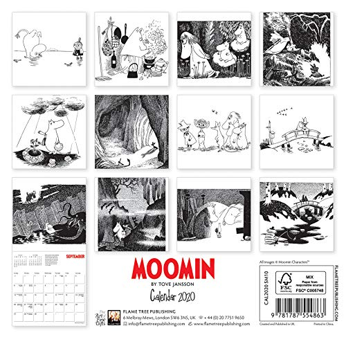 Moomin by Tove Jansson - Mini Wall Calendar 2020 (Art Calendar): Alle Infos bei Amazon