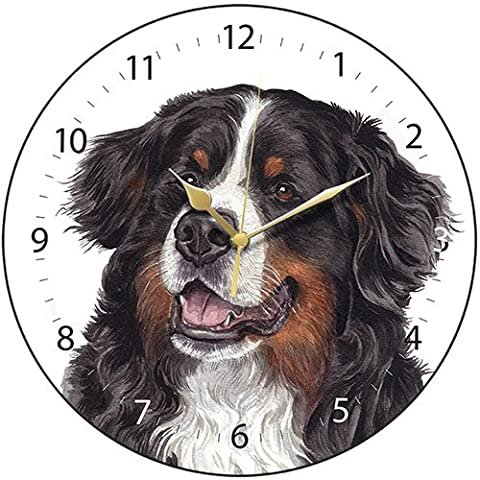 Bernese Mountain Dog Gift - Beautiful Quality 28cm Boxed Wall Clock, made in the UK. Makes a wonderful