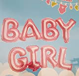 #9: Original BABY GIRL- Pink letter foil balloons / Baby Shower Girl Letter Balloon / Pink Girl Balloon