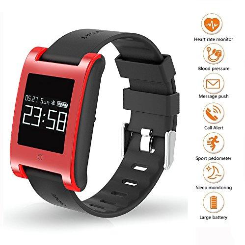 Fitness Tracker Uhr Armband, Pulsuhren Farbbildschirm Fitness Tracker mit SchlafMonitor Armbanduhr, Schrittzähler, Kalorienzähler, Wasserdicht IP67 Aktivitätstracker Smart Uhr für Android&iOS Smartphones