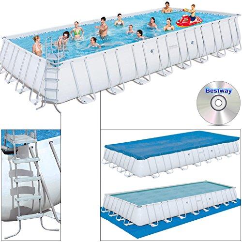 Bestway Swimming Pool ~ 10m mit Stahlrahmen 956x448x132