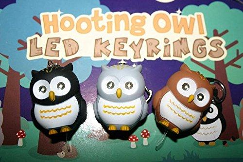 danyoun Lovely Eulenruf LED Taschenlampe Schlüsselanhänger, Fun Cute LED Schlüsselanhänger mit Licht, Funny Cute Owl Neuheit Sound Schlüsselanhänger für Taschen und Handtaschen, Kinder Mädchen Frauen Schöne Dekoration Schlüsselanhänger (zufällige Farbe)