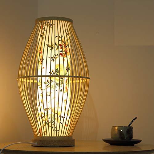 MIWEN Schlafzimmer nachttischlampe vertikale warmes licht pers?nlichkeit Tatami tischlampe Dekoration stehlampe Neue chinesische Stil Bambus Lampe (Chinesische Stehlampe)