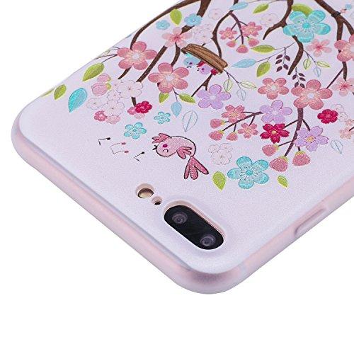 iphone 7 Plus Hülle,iphone 7 Plus Case, iphone 7 Plus Schutzhülle Case Silikon, Cozy Hut Liquid Crystal Schock Absorption Ultra Dünn Crystal Clear Transparent Handyhülle Cover Soft Premium-TPU Durchsi Schaukelmädchen