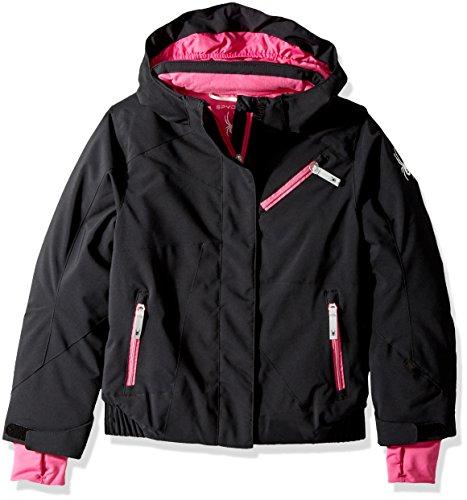 Spyder Girl 's Lola Ski Jacke, Mädchen, 239011, Schwarz , Größe 12 - Spyder Kids Mädchen Jacke
