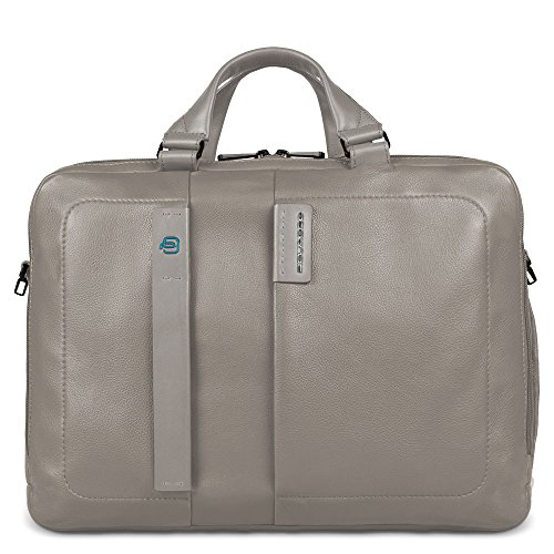 Piquadro Herren Laptoptasche, Grau (Grey) Grau