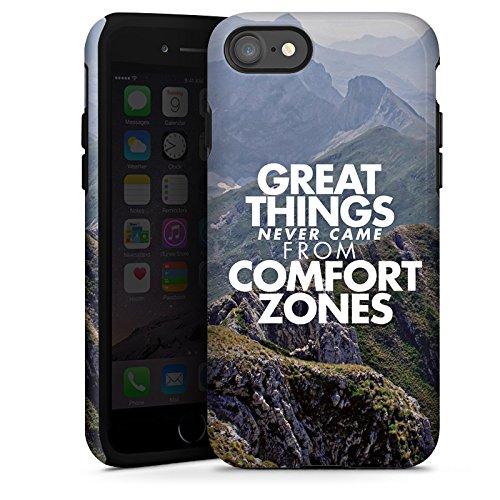 Apple iPhone X Silikon Hülle Case Schutzhülle Motivation Sprüche Workout Tough Case glänzend