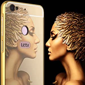 Luxury Aluminium Bumper With Mirror Acrylic Cover For LeEco Le 1S Le1S Le 1S - Gold