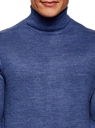 oodji Ultra Herren Pullover Basic Blau (7500M)