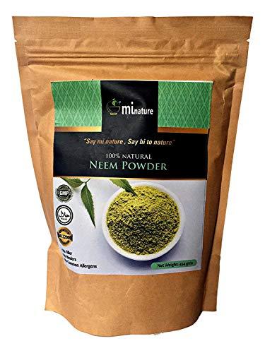 polvere di neem xxl-454 g 100% naturale foglia gmp halal fda cert viso pelle capelli antisettico naturale