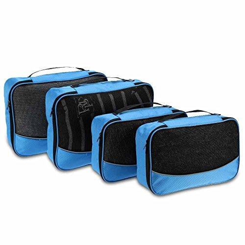 TOMSHOO 4 Embalaje Cubos Ropa Organizador Kit de Viaje Bolsas Bolsas d