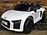 Picture Of Kids R8 Spyder Style Roadster Sports Car with Remote Control 12v Electric / Battery Ride on Car - White