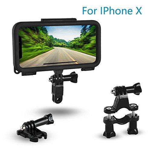 Stanbow Vélo support de téléphone, caméra GoPro Style Casque kit de montage avec adaptateur de support pour Apple iPhone X, téléphone portable, vélo de guidon et casque support Cradle pour iPhone X
