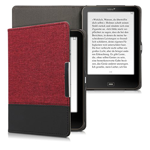 kwmobile Tolino Vision 1/2 / 3/4 HD Hülle - Canvas eReader Schutzhülle Cover Case für Tolino Vision 1/2 / 3/4 HD