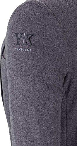 YAKE by S.O.H.O. NEW YORK Sakko Herren Slim Fit - Blazer Herren Sportlich Sheffield Grau_003