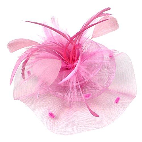 Wingbind Netting Blume Kopfschmuck für Frauen, Kopfschmuck Hut Clip für Hochzeit, ausgefallene Party, Halloween-Kostüm, Cosplay, 1920er Jahre Vintage Thema Party, Prom