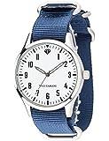 Yves Camani Herren-Armbanduhr UNISSON mit 2 Nylon Nato-Bändern Analog Quarz YC1084