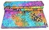 Vedant Designs Vintage Tye Dye Queen Cotton Kantha Steppdecke Gudari